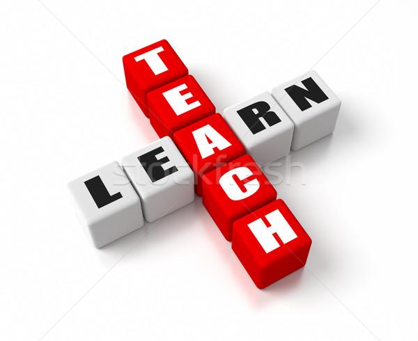 Ensinar aprender negócio conceitos vermelho Foto stock © OutStyle