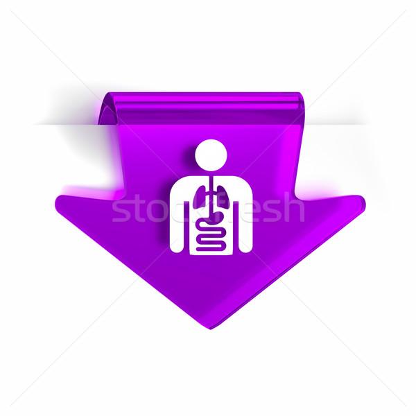 Interno medicina vidrio flecha página marcador Foto stock © OutStyle