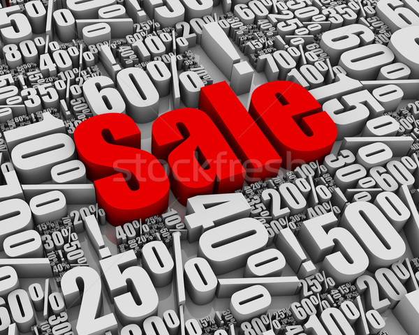 Verkauf Batch 3D Worte Business rot Stock foto © OutStyle