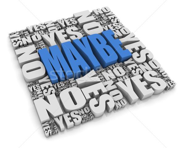 Grupo sí no palabras blanco elección Foto stock © OutStyle