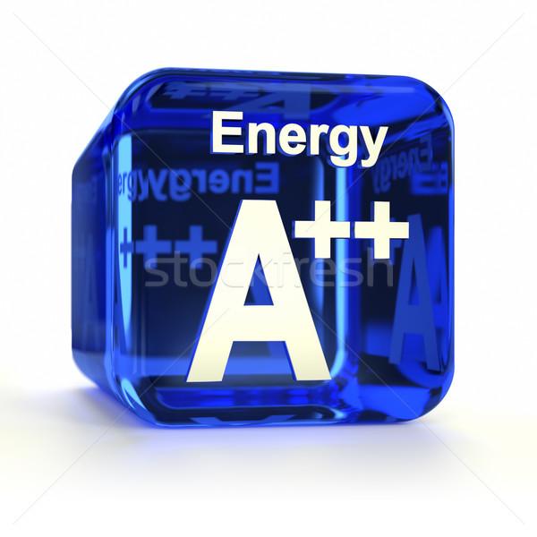 Efficacité énergétique bleu icône de l'ordinateur ordinateur technologie Photo stock © OutStyle