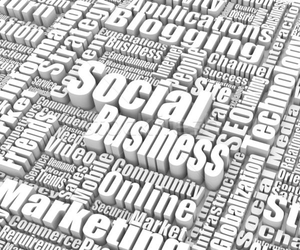 Foto d'archivio: Sociale · business · parole · internet · successo