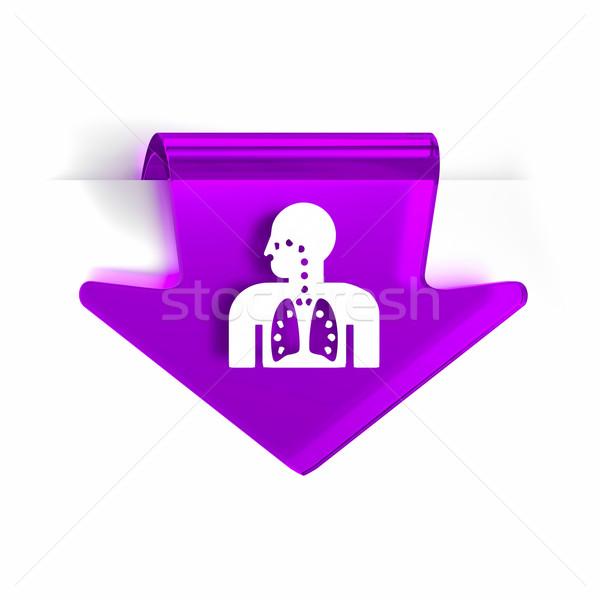 Respiratoria terapia vetro arrow pagina marcatore Foto d'archivio © OutStyle