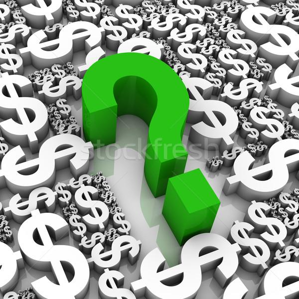 Başarı strateji soru işareti dolar para semboller Stok fotoğraf © OutStyle