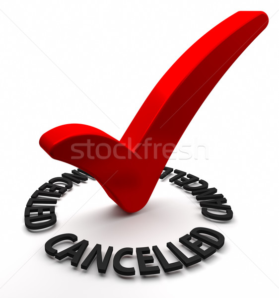 Cancelled Stock photo © OutStyle