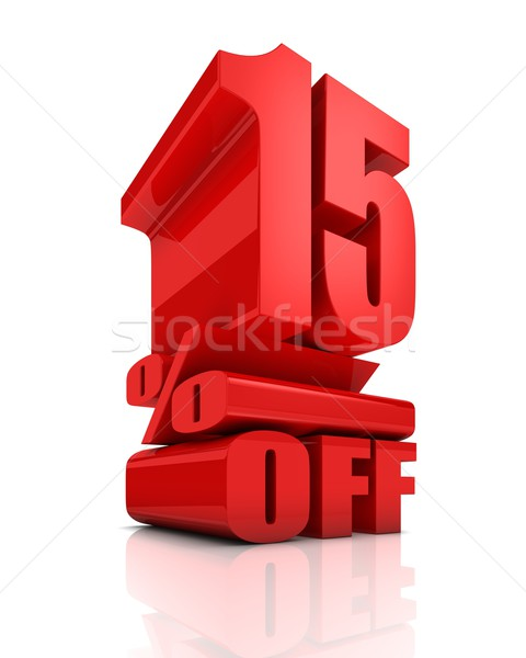 Sale 15 Percent Off Stock photo © OutStyle