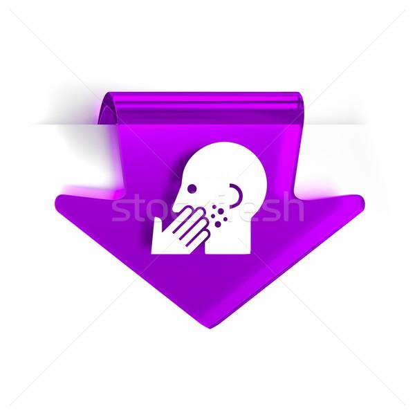 Dermatologie verre flèche page marqueur icône Photo stock © OutStyle