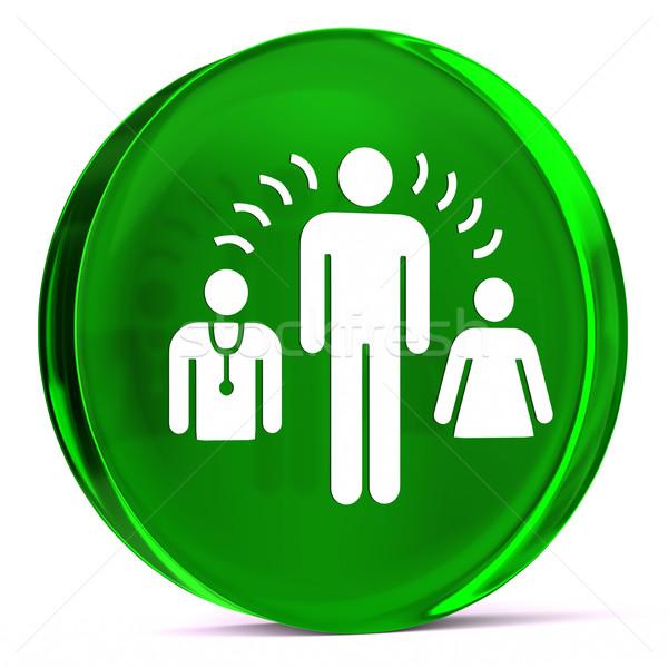Interprete servizi vetro icona bianco Foto d'archivio © OutStyle