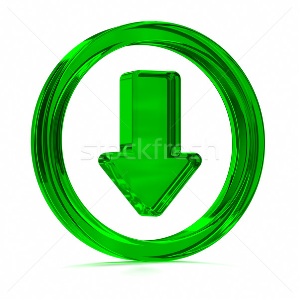 Green Download Icon Stock photo © OutStyle