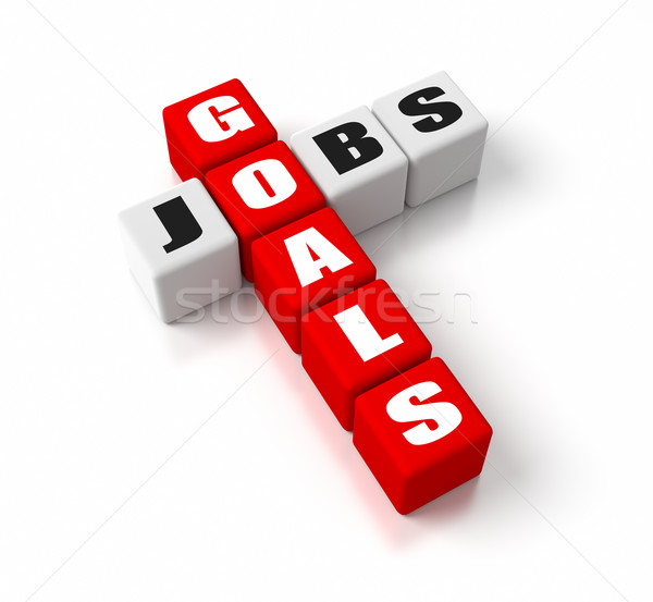 Goals Jobs Red Stock photo © OutStyle
