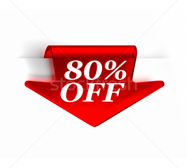 Eighty Percent Off Stock photo © OutStyle