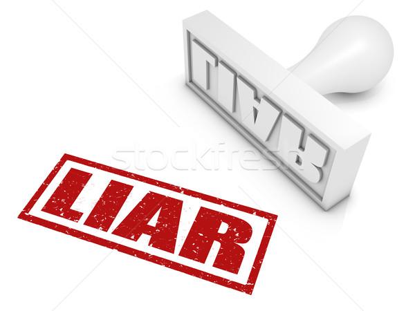 Hazug pecsét bélyeg fogalmak számítógép fehér Stock fotó © OutStyle