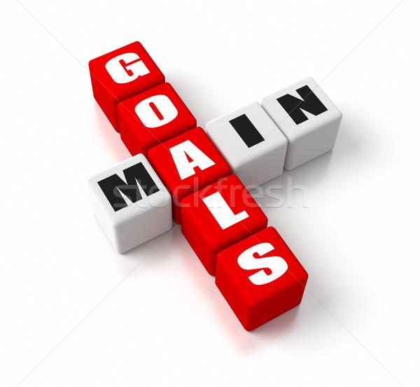Principale objectifs rouge affaires concepts succès Photo stock © OutStyle