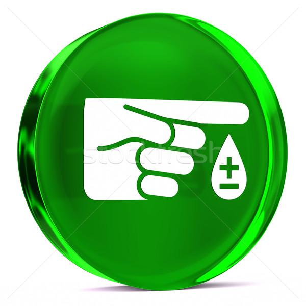 Diabetes vidrio icono blanco signo Foto stock © OutStyle