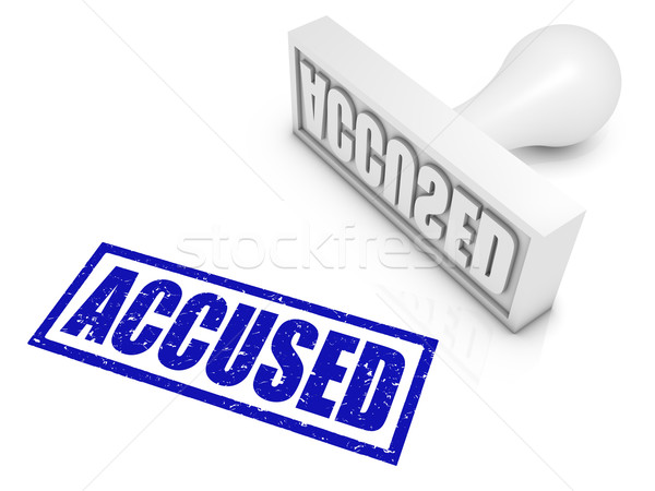 Accused Rubber Stamp Stock photo © OutStyle