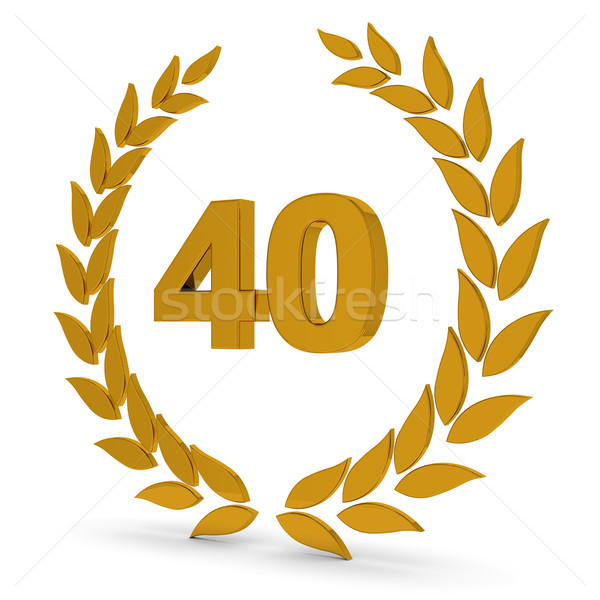 40th Anniversary Golden Laurel Wreath. Stock photo © OutStyle