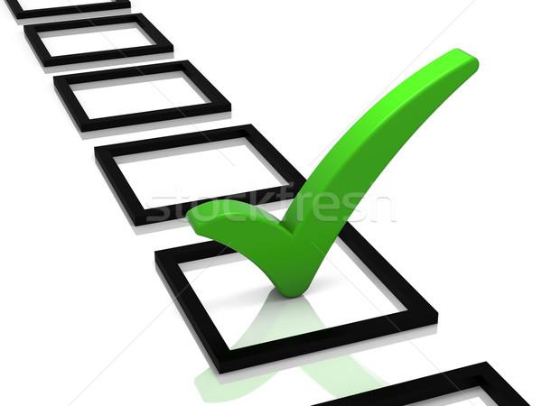 Sprawdzić listy zielone ocena odizolowany biały Zdjęcia stock © OutStyle