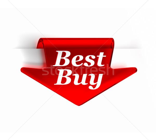 Mejor comprar rojo vidrio superior flecha Foto stock © OutStyle