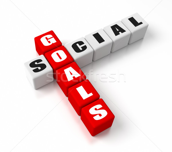 Social Goals Red Stock photo © OutStyle
