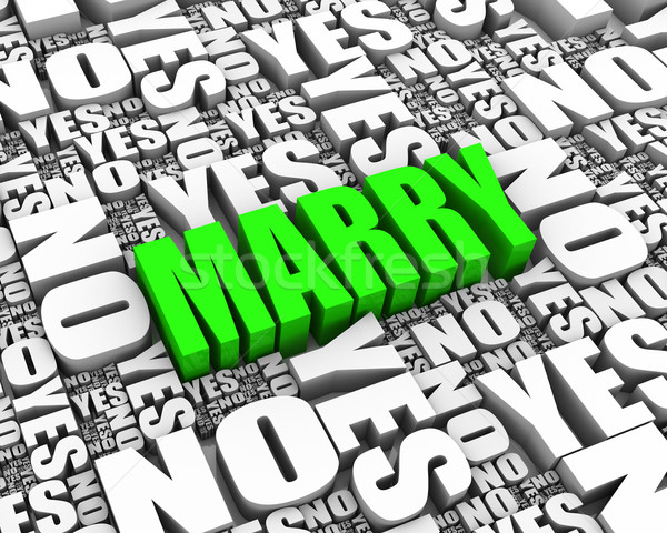 Marriage Decision Stock photo © OutStyle