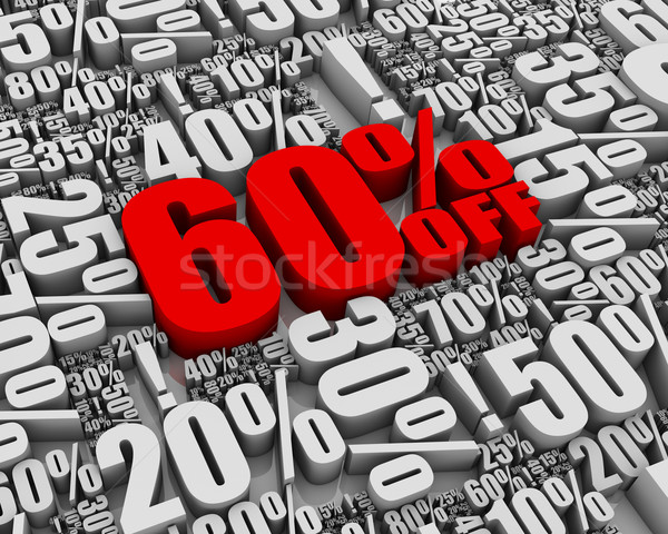 Verkauf 60 aus Batch 3D Worte Stock foto © OutStyle