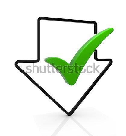 Letöltés teljes szimbólum nyíl csekk osztályzat Stock fotó © OutStyle