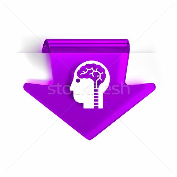 Neurologie Glas arrow Seite Marker Symbol Stock foto © OutStyle