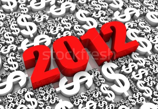 Financière succès 2012 texte 3d dollar monnaie Photo stock © OutStyle