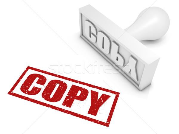 Copiar ordenador blanco aislado Foto stock © OutStyle