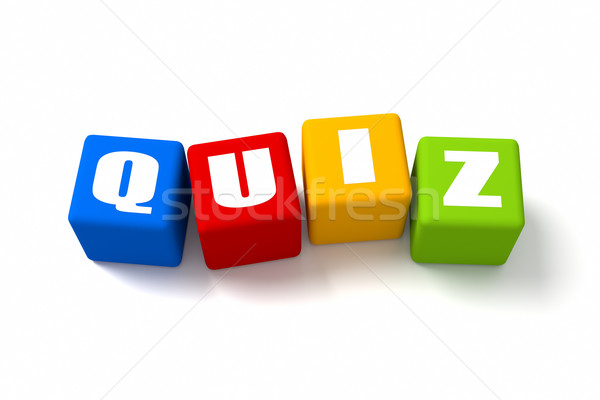 Quiz Colored Cubes Stock photo © OutStyle