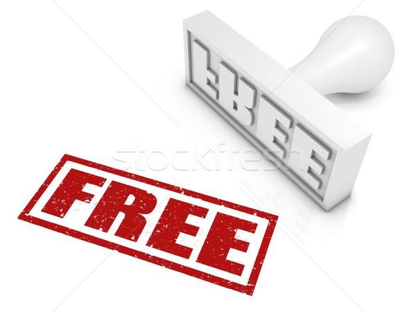 Libre rojo negocios libertad blanco Foto stock © OutStyle