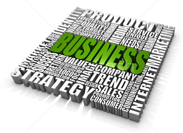 бизнеса слов зеленый рынке Сток-фото © OutStyle