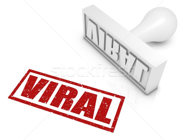 Viral médico vermelho marketing tornar Foto stock © OutStyle