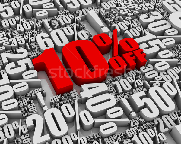 Venta 10 3D palabras Foto stock © OutStyle