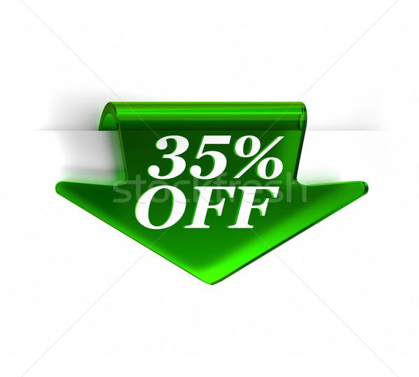 Trzydzieści pięć procent zielone szkła Zdjęcia stock © OutStyle