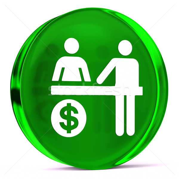 Medische facturering glas icon witte gezondheidszorg Stockfoto © OutStyle