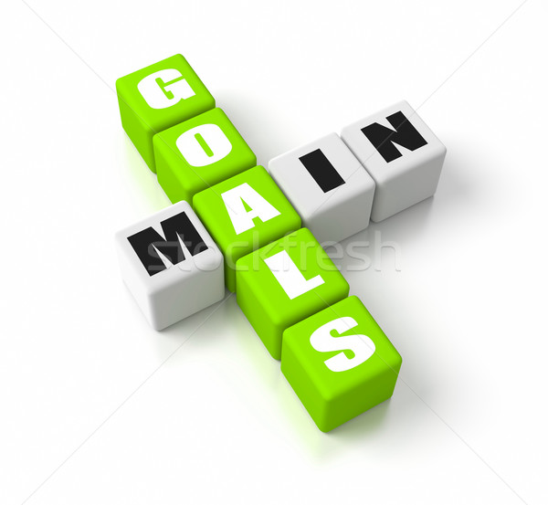 Main Goals Green Stock photo © OutStyle