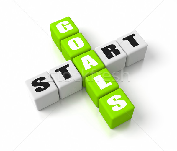Start Defining Goals Green Stock photo © OutStyle