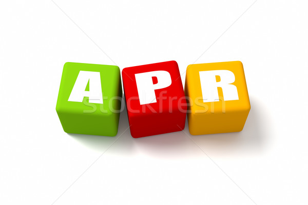 April Colored Cubes Stock photo © OutStyle