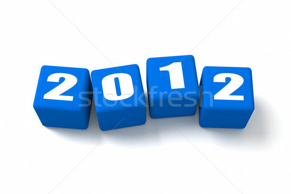 New Year 2012 Blue Cubes Stock photo © OutStyle