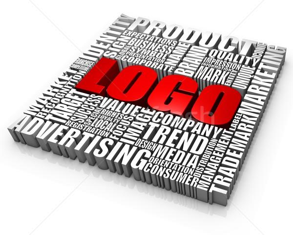 Iş logo sözler iş kavramlar kırmızı pazar Stok fotoğraf © OutStyle