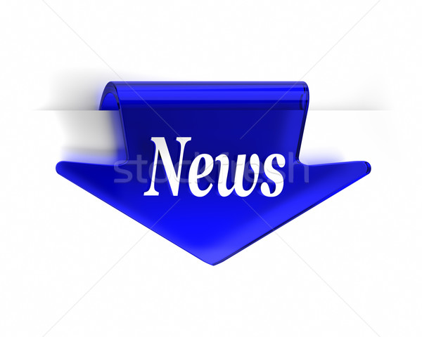 Blue News Arrow Stock photo © OutStyle