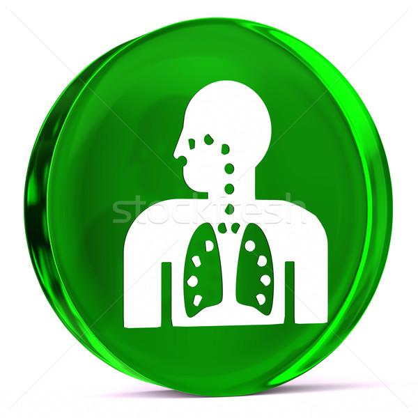 Respiratoria terapia vetro icona bianco Foto d'archivio © OutStyle