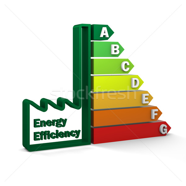 Energy Efficiency Rating Chart Stock photo © OutStyle