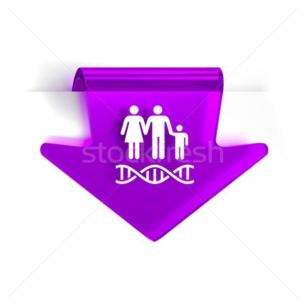 Genética vidrio flecha página marcador icono Foto stock © OutStyle