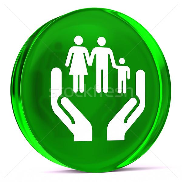 Social servicios vidrio icono blanco Foto stock © OutStyle