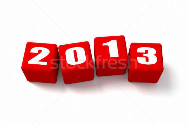 New Year 2013 Red Cubes Stock photo © OutStyle