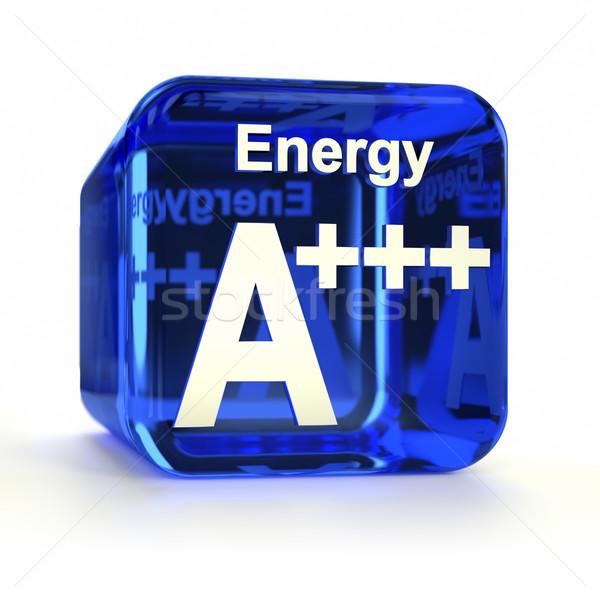 Eficiência energética azul ícone do computador computador tecnologia Foto stock © OutStyle