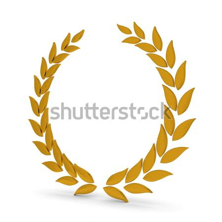 Golden Laurel Wreath Stock photo © OutStyle