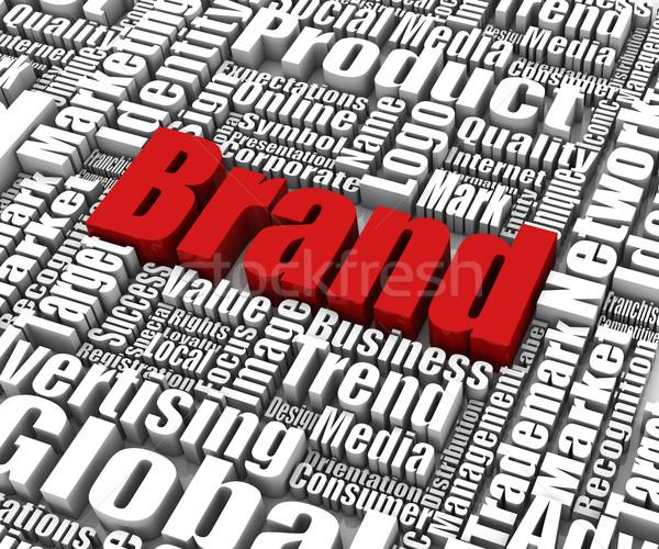 Marca parole business concetti mercato successo Foto d'archivio © OutStyle